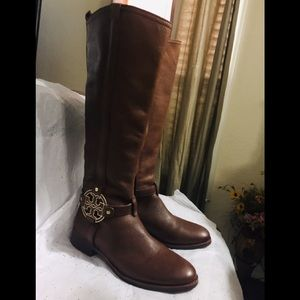 Tory Burch Brown Leather Boots Size 8